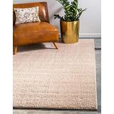 Unique Loom Serenity Solid Shag Collection Super Soft Micro Polyester Taupe Area Rug (4' 0 x 6' 0)