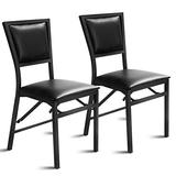"""Giantex Set of 2 Metal Folding Chair Dining Chairs Home Restaurant Furniture Portable (18"""" X 20"""" X 33.5"""")"""