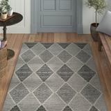 Laurel Foundry Modern Farmhouse® Jodi Geometric Handmade Flatweave Cotton Black/Gray Area Rug Cotton in Black/Brown/Gray | Wayfair