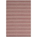 Laurel Foundry Modern Farmhouse® Jodi Southwestern Handmade Flatweave Cotton Ivory/Red Area Rug Cotton in White, Size 60.0 H x 36.0 W x 0.25 D in