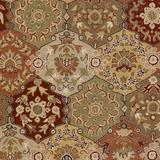 World Menagerie Graziani Handmade Tufted Wool Red/Olive Rug Wool in Brown/Green, Size 117.0 W x 0.39 D in   Wayfair WDMG7269 33382039