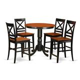 5 Pc counter height Table and chair set - high top Table and 4 counter height stool.