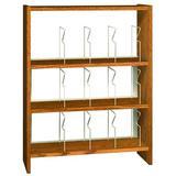 "Ironwood Glacier 47.25"" H x 37"" W Standard Bookcase Wood/Metal in Gray, Size 47.25 H x 37.0 W x 12.5 D in   Wayfair PBS48SBAA"
