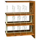 "Ironwood Glacier 47.25"" H x 36"" W Standard Bookcase Wood/Metal in Gray, Size 47.25 H x 36.0 W x 24.0 D in   Wayfair PBS48DAAA"