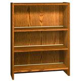 Ironwood Glacier Metal Standard Bookcase in White/Brown, Size 40.875 H x 36.0 W x 12.5 D in   Wayfair LS42SAOC