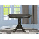 East West Furniture HLT-CAP-TP Hartland Wood Dining Table-Cappuccino Table Top Surface and Cappuccino Finish legs Solid Wood Frame Pedestal Dining Table