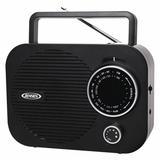 JENSEN AUDIO MR-550-BK Portable Radio AM/FM, Black