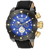Invicta Men's Corduba Stainless Steel Quartz Watch with Nylon Strap, Black, 24 (Model: 22335)