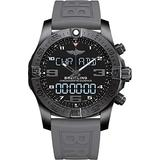 Breitling Men's Stainless Steel Quartz Watch with Rubber Strap, Black, 21 (Model: VB5510H2/BE45RD)