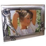 """Navika Vintage Male Golfer Pewter Picture Frame, Holds 6"""" W x 4"""" H Photo"""