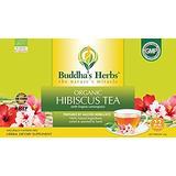 Buddha's Herbs Premium Organic Hibiscus Tea with Lemongrass, 22 Tea Bags (Pack of 4)