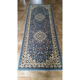 Traditional Runner Area Rug Blue Persian 330.000 Point Design 603 (31 Inch X 7 Feet 2 Inch)