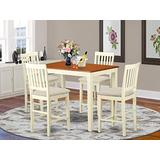 5 Pc counter height set - Dining Table and 4 counter height Dining chair.
