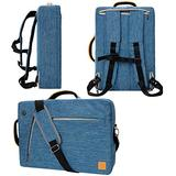 """Blue 10"""" to 12-inch Convertible Laptop Bag for Samsung Galaxy Book, Chromebook, Galaxy Tab S6, S5e, Tab A, S4 10.5 10.1"""