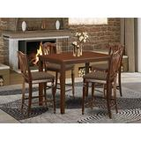 5 Pc counter height Dining set - high Table and 4 counter height Dining chair.