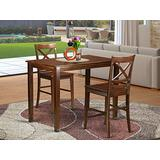 3 Pc Dining counter height set- high Table and 2 Dining Chairs.