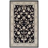 Superior Elegant Kingfield Collection Area Rug, 8mm Pile Height with Jute Backing, Classic Bordered Rug Design, Anti-Static, Water-Repellent Rugs - Black, 8' x 10' Rug
