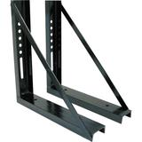 Buyers Products Underbody Truck Tool Box Mounting Kit - Steel, Gloss Black, 18Inch x 18Inch x 3Inch, Model 1701005