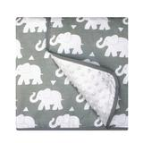 Pam Grace Creations Elephant Chenille Baby Blanket Cotton Blend in Gray, Size 36.0 H x 36.0 W in   Wayfair BL-ELEPHANT