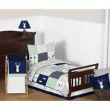 Sweet Jojo Designs Woodsy 5 Piece Toddler Bedding Set Cotton Blend in Blue/Navy   Wayfair Woodsy-NV-MT-Tod