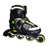 Mongoose Adjustable Inline Skates- Green, Green/Gray/Black, Size 5-8 (MG-091B-L)