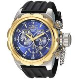 Invicta Men's Russian Diver Stainless Steel Quartz Watch with Silicone Strap, Black, 34 (Model: 21630)