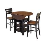 World Menagerie Atwater 3 Piece Counter Height Dining Set Wood in Brown, Size 36.5 H in   Wayfair 4C3A6E9C1C45457A80C13B1D4958843A