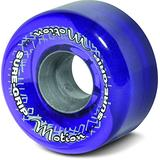 Sure-Grip Motion Outdoor Quad Roller Skating 62mm Clear Purple
