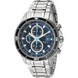 Citizen Men's Quartz Stainless Steel and Titanium Casual Watch, Silver-Toned (CA0349-51L)