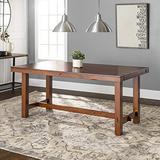 """Walker Edison Furniture Walker Edison 96"""" Solid Wood Dark Oak Dining Table - AZW60HDO"""