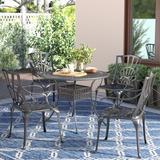 Astoria Grand Frontenac 5 Piece Dining Set Metal in Brown, Size 28.75 H x 42.0 W x 42.0 D in | Wayfair ASTG5486 34449334
