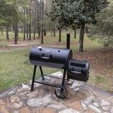 Oklahoma Joe's Offset Wood Smoker & Grill Steel in Black/Brown/Gray, Size 53.0 H x 57.0 W x 33.5 D in | Wayfair 17202052