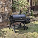 Oklahoma Joe's Offset Wood/Charcoal Smoker & Grill Steel in Black/Brown/Gray, Size 55.5 H x 64.25 W x 35.5 D in | Wayfair 17202053