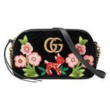 Gucci Jackie Original GG Shoulder Bag Stripe Classic Medium Handbag Blue Navy Red New