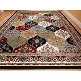 Large Rugs for Living Room 8'x11' Multicolor Red Blue Cream Green 8x10 Area Rugs Kitchen Floor Rugs 8x11