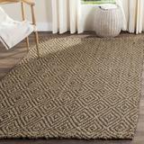 Laurel Foundry Modern Farmhouse® Grassmere Geometric Handmade Flatweave Jute Natural/Gray Area Rug Jute & Sisal in White | Wayfair