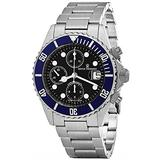Revue Thommen Diver 42 MM Mens Black Dial Stainless Steel Automatic Chronograph Date Swiss Watch 17571.6135