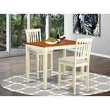 3 PC counter height Dining room set-pub Table and 2 Kitchen Chairs.