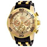 Invicta Men's Pro Diver Stainless Steel Quartz Watch with Silicone Strap, Black, 25 (Model: 22342)