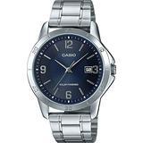 Casio MTP-VS02D-2A Men's Standard Solar Stainless Steel Blue Dial Date Watch