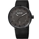 August Steiner Men's Watch - Date Window On Stainless Steel Tight Mesh Bracelet Casual Watch - AS8204