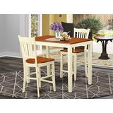 3 Pc counter height pub set - high Table and 2 counter height Chairs.