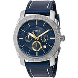 Fossil Men's FS5262 Machine Chronograph Blue Leather Watch