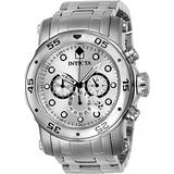 Invicta Men's Pro Diver Stainless Steel Quartz Watch with Stainless-Steel Strap, Silver, 26 (Model: 23649)