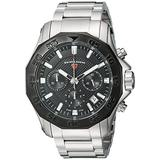 Swiss Legend Men's Islander Swiss-Quartz Watch with Stainless-Steel Strap, Silver, 14 (Model: 16199SM-11-BB)