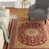 Astoria Grand Colindale Red/Beige Rug Polypropylene in Brown/Red, Size 111.0 H x 79.0 W x 0.5 D in | Wayfair ASTG5537 34795075