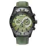TIDOO Mens Watch Analog Quartz Leather Band Key Scratch Resistant Waterproof Sport Fashion Design 98FT 30M 3ATM Water Resistant Wrist Watch Green