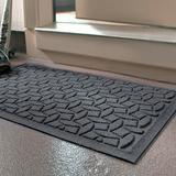 """Water & Dirt Shield Ellipse Commercial Grade Door Mat - Dark Brown, Medium (35"""" x 59"""") - Frontgate"""