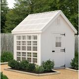 Little Cottage Company Colonial Gable 8' W x 12' D Hobby Greenhouse Wood/Polycarbonate Panels in Brown, Size 124.0 H x 96.0 W in | Wayfair