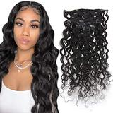 Curly Clip in Remy Human Hair Extensions 10 Inch Remy Human Hair Clip In Extensions 7 Pieces 100 Gram Water Wave Clip Human Hair Extensions Curly